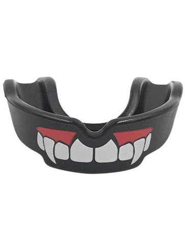 Black Mouth Guard With Teeth
