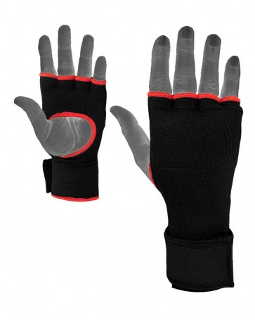 Boxing Inner Gloves Black With Red Trim