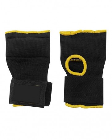 Boxing Inner Gloves Black With Yellow