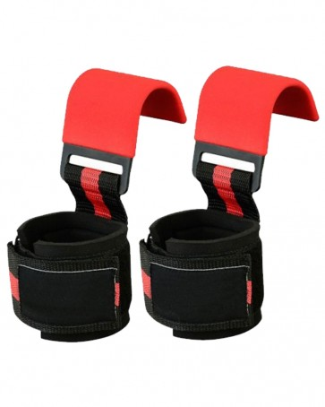 Red And Black WeightLifting Hooks