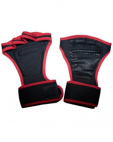 WeightLifting Grips Black With Red