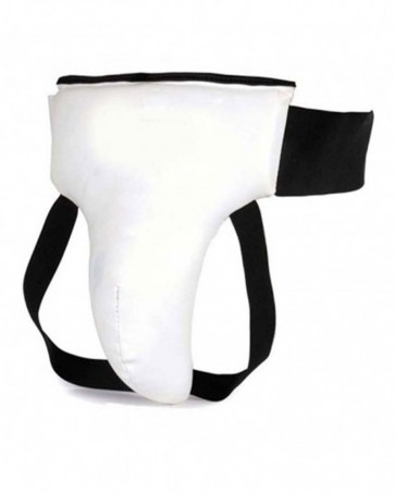 White Leather Groin Guard