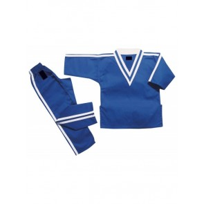 Blue With Stripes Kickboxing Gi