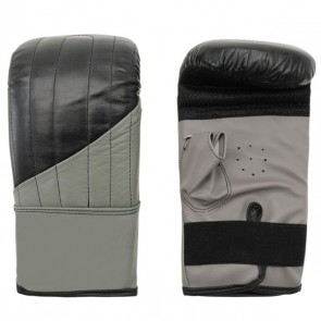 Black And Gray Bag Gloves