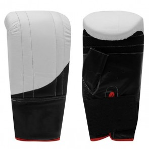 White And Black Bag Gloves