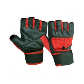 Black And Red Gym Gloves