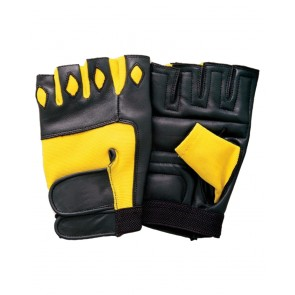 Black And Yellow Fitness Gloves