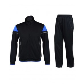 Black Tracksuit With White Trimming