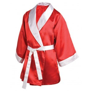 Boxing Robe Red With White Trim