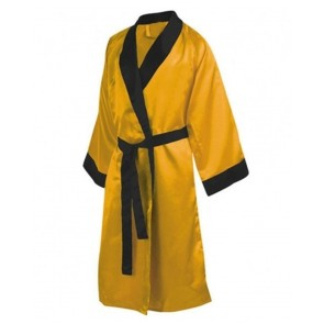 Boxing Robe Yellow With Black Trim