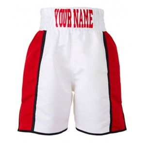 Boxing Short White And Red