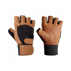 Brown Weight Lifting Gloves