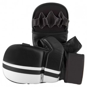 MMA White And Black Gloves
