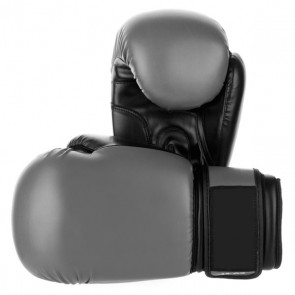 Gray And Black Boxing Gloves