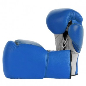 Blue With Gray Palm Boxing Gloves