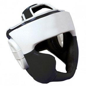 White And Black Head Guard