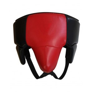 Leather Groin Guard Red