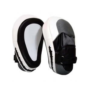 MMA Focus Mitts White And Black