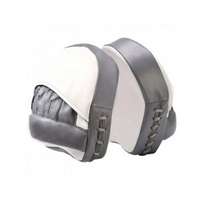 MMA Focus Mitts White And Grey
