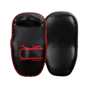 MMA Kick Shield Black With Red Trimming