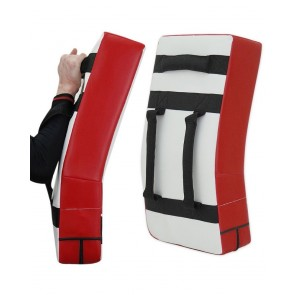 MMA Kick Shield White And Red