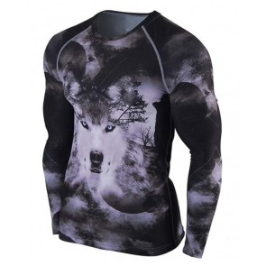Rash Guards Wolf Design