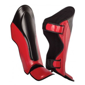 MMA Shin Guards Black And Red