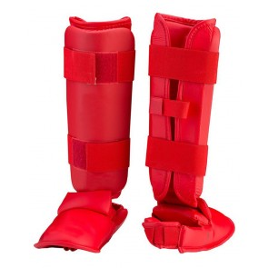 MMA Shin Guards Red