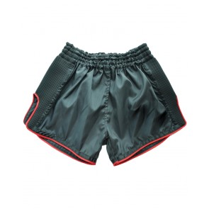Muay Thai Short Black With Red Trim