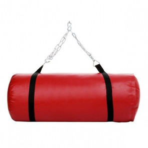 Red Punching Bag With Black Straps