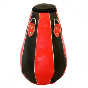 Red And Black Paneled Punching Bag