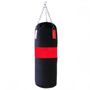 Red Stripe Black Punching Bag