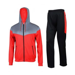Red And Black Hoodie Tracksuit